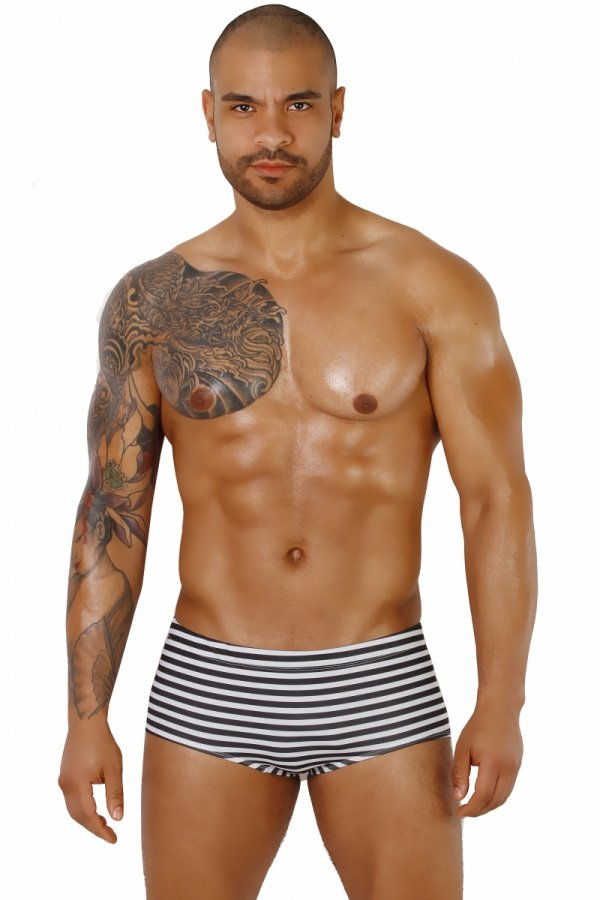 Supa! Swim! Grey Stripes Swimming Boxers