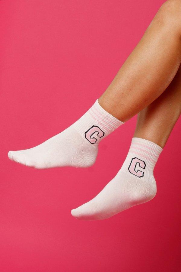 """Skarpety damskie Supa! Sox! Pink """"C"""" (SM02712)"""