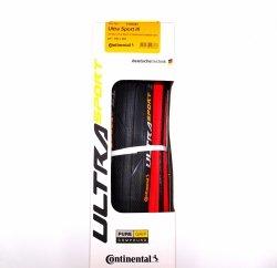 Opona Continental Ultra Sport PF 700x25C czarno/czerwona zwijana