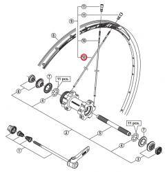 Szprycha Shimano 270mm do WH-MT66-F