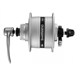 Piasta przednia dynamo Shimano Nexus DH-3D37-QR 36H 6V/3W srebrna Center Lock