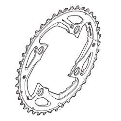 Tarcza mechanizmu korbowego Shimano SLX FC-M670 48T (AL do 48–36–26T)
