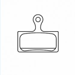 Okładziny hamulca tarczowego Shimano K02S żywiczna