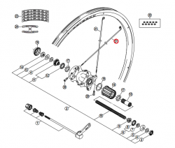 Szprycha Shimano 260mm z podkładką do WH-M959-F/R WH-M575-R lewa/prawa