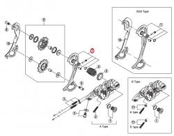 Wózek przerzutki Shimano Deore XT RD-M772 SGS zewnętrzny