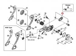 Adapter Shimano przerzutki tył RD-M786/781