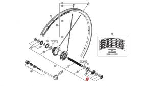 Stożek piasty Shimano WH-MT15-F prawy