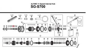 Stożek piasty tył Shimano Alfine SG-S700 lewy
