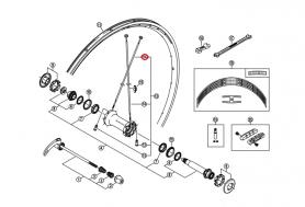 Szprycha Shimano 282mm z nyplem do WH-7801-SL-F
