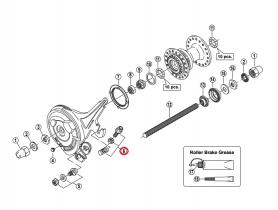 Śruba regulująca linkę w Shimano BR-IM41-F
