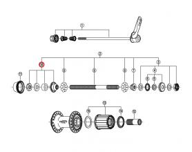 Stożek lewy piasty tył Shimano FH-M530/510 525/MC18/MC33/MC32 (M10X16mm)