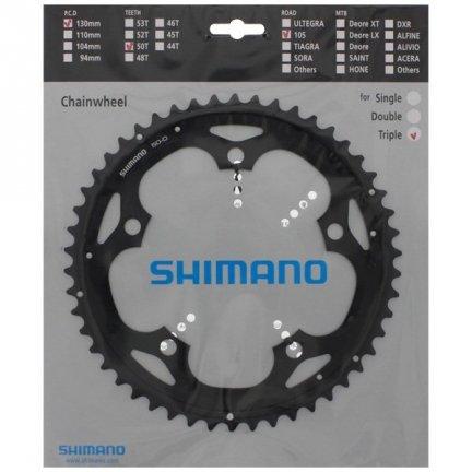 Tarcza mechanizmu korbowego Shimano 105 FC-5703 50T (typu D, czarna)