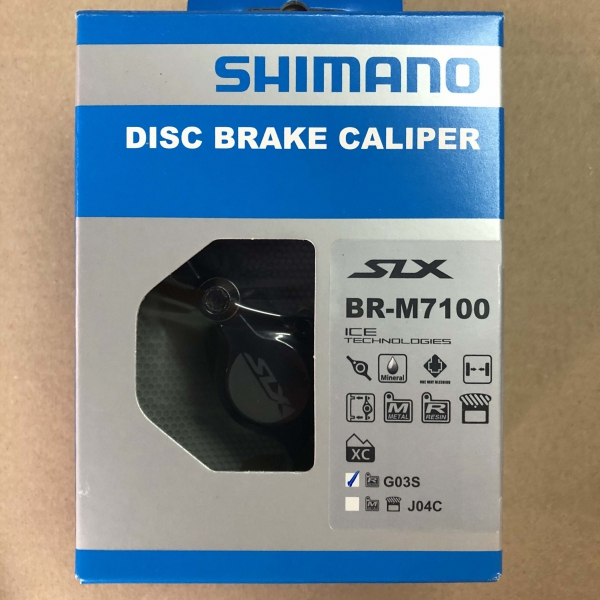 Zacisk hamulca tarczowego Shimano SLX BR-M7100 żywica Bez/Radiatora