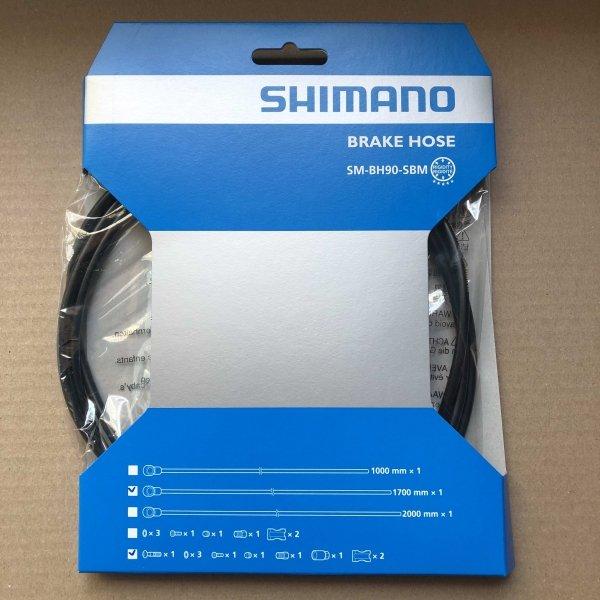 Przewód hamulca hydraulicznego Shimano SM-BH90-SBM tył 1700mm czarny