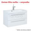 ELITA - Kwadro Szafka 80 cm 2S  z umywalką MILOS (162309+155780)