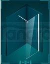 DURASAN - Kabina prysznicowa WALK - IN SMART Minii Nano Glass (Easy Clean)