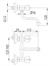 ARMATURA KRAKÓW - STANDARD bateria zlewozmywakowa dwuuchwytowa 300-210-00
