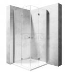 REA - Kabina prysznicowa MODUŁ FOLD prostokątna podwójne drzwi składane 100x110