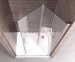 REA - Drzwi prysznicowe OPTIMA 80cm z pojedynczymi drzwiami składanymi