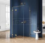 NEW TRENDY - Kabina prysznicowa prostokątna AVEXA GOLD EXK-1736/37 Złote Profile 80x110x200