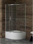 New Trendy - Kabina prysznicowa półokrągła NEW KOMFORT pojedyncze drzwi uchylne / Linia Gold 90x90 K-0433