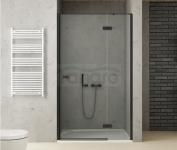 NEW TRENDY - Drzwi wnękowe prysznicowe REFLEXA BLACK czarne profile REFLEXA BLACK Rozmiary 80-140cm
