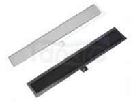 AQUALine Odpływ liniowy podłogowy szklany CZARNY LUB BIAŁY szkło hartowane 50cm C21BK/WT500
