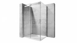 REA - Kabina NIXON - 2 prostokątna EASY CLEAN PREMIUM / drzwi 140 + ścianka 80 /