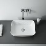 ELITA - Umywalka ceramiczna nablatowa RENI 46 BIAŁA/WHITE 145047
