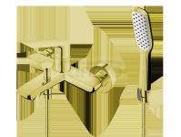 VEDO - Bateria wannowa z zestawem natryskowym DESSO ORO złoto  VBD4006/S/ZL
