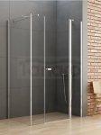 New Trendy - Kabina prysznicowa prostokątna pojedyncze drzwi uchylne ze ścianką NEW SOLEO PLUS podwójna ścianka / Linia Gold PL