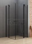 NEW TRENDY Kabina prysznicowa NEW SOLEO BLACK z podwójnymi drzwiami otwieranymi na zewnątrz i do wewnątrz 100x100x195 K-0556