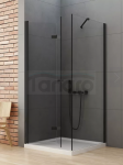 NEW TRENDY Kabina prysznicowa składana NEW SOLEO BLACK 100x70x195