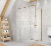 NEW TRENDY Kabina ścianka prysznicowa walk-in VELIO SATIN GOLD 110x200 8mm D-0199B