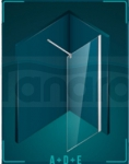 DURASAN - Kabina prysznicowa WALK - IN SMART Minii Nano Glass (Easy Clean)