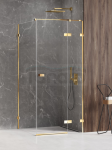NEW TRENDY Kabina prysznicowa AVEXA GOLD SHINE Linia Platinium 80x110x200