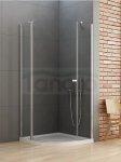 New Trendy - Kabina prysznicowa półokrągła pojedyncze drzwi uchylne NEW SOLEO / Linia Gold