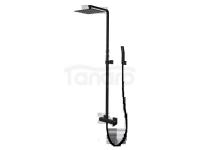VEDO Kolumna zestaw prysznicowy z baterią mieszakową I SETTE NERO deszczownica 250x250mm / Nr KAT: VBS7007/CZ