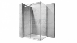 REA - Kabina NIXON - 2 prostokątna EASY CLEAN PREMIUM / drzwi 110 + ścianka 80 /
