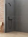 NEW TRENDY Kabina ścianka prysznicowa walk-in 110x195 wspornik skośny profil czarny K-0771