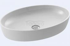 CeraStyle - Umywalka ceramiczna nablatowa ONE OWALNA bez otworu na baterię