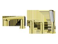 VEDO -  Bateria wannowa 4-otworowa DESSO ORO złoto  VBD4040/ZL