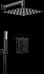 DEANTE - Zestaw BOX Nero/Czarny podtynkowy termostatyczny kwadratowy  BXYZNEAT