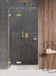 NEW TRENDY Drzwi prysznicowe wnękowe AVEXA GOLD SHINE Linia Platinium 110x200cm