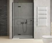 NEW TRENDY Drzwi wnękowe prysznicowe REFLEXA BLACK 140x200 EXK-1332 POLSKA PRODUKCJA