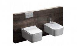 VELDMAN - Zestaw Miska WC + Bidet CUBIC + Deska Tezoja