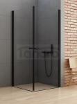 NEW TRENDY Kabina prysznicowa kwadratowa NEW SOLEO BLACK 80x80x195 D-0230A/D-0230A