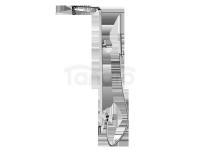 FROMAC - Zestaw natryskowy z baterią mieszakową SLIM i wylewką kaskadową  chrom 15861