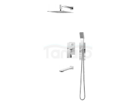 VEDO - Zestaw natryskowy podtynkowy z wylewką wannową I MITO VBM3231 200x200