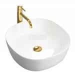 REA - Umywalka nablatowa ELENA biała/white